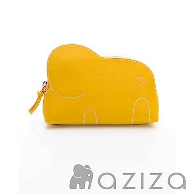 AZIZA 小象化妝包-黃