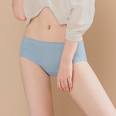 無痕透氣超健康竹炭包臀中腰M-XL內褲 冷冽冰島 可蘭霓Clany