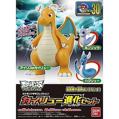 BANDAI Pokemon組裝模型 神奇寶貝超級願望 進化快龍 No.30