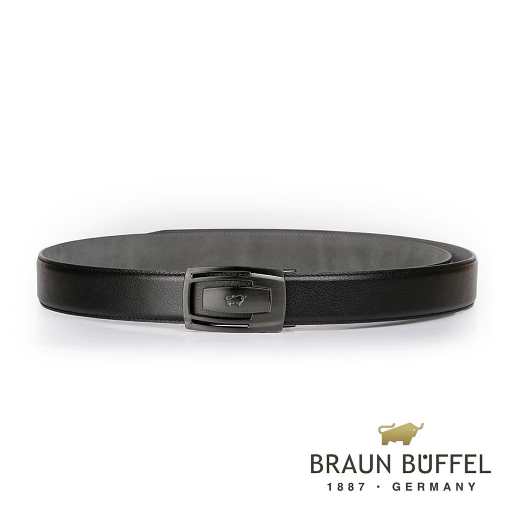 BRAUN BUFFEL - 沉穩內斂紳士自動扣皮帶 - 鎗色