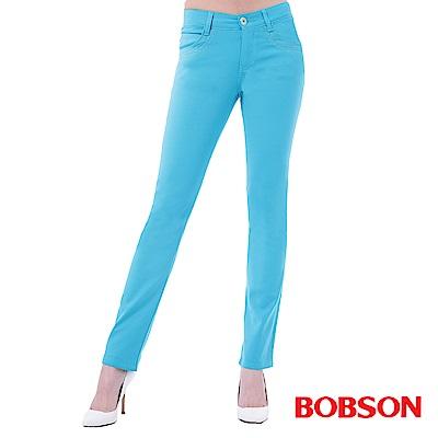 BOBSON 女款超手感彈力小直筒褲