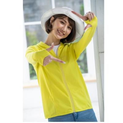 【LEIDOOE】女防曬外套-黃綠色(11026)