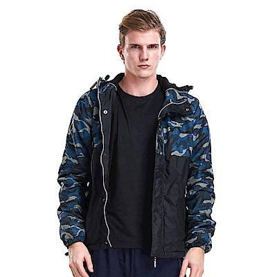 【ZEPRO】男子軍事主義迷彩拼接鋪棉外套-迷彩藍