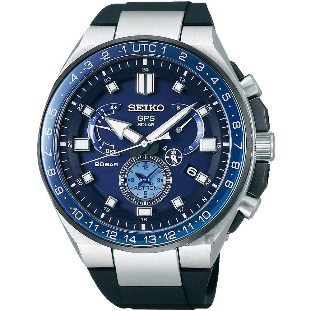 (無卡分期24期)SEIKO精工 ASTRON 雙時區鈦GPS衛星定位手錶(SSE167J1)