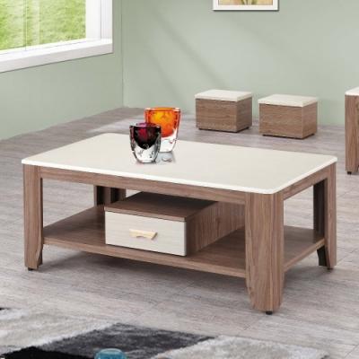 MUNA G70柚木色石面大茶几(含凳)另有胡桃色 130X70X55cm