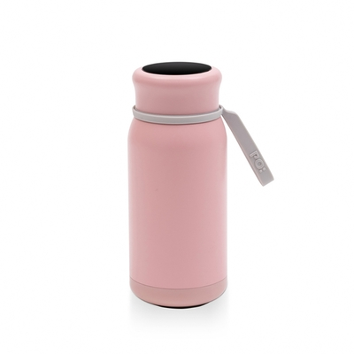 【PO:Selected】丹麥恆溫暖手牛奶保溫杯320ml(粉)