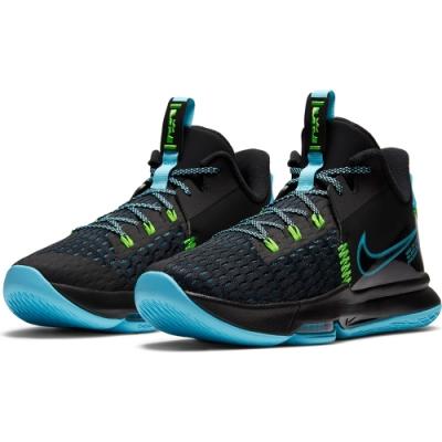 NIKE 籃球鞋 運動鞋 包覆 緩震 男鞋 黑藍綠 CQ9381004  LEBRON WITNESS V EP