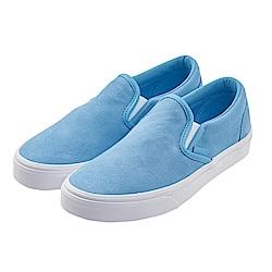 (女)VANS Classic Slip-On 素面休閒懶人鞋*粉藍