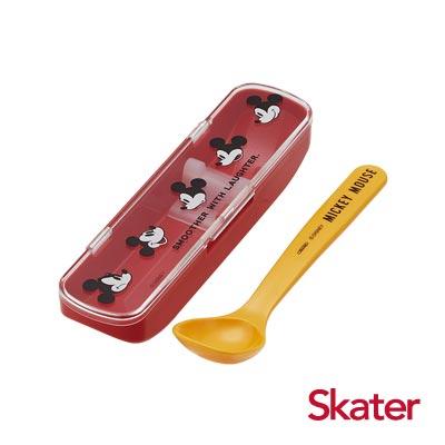 Skater深口湯匙(附盒)米奇透明蓋