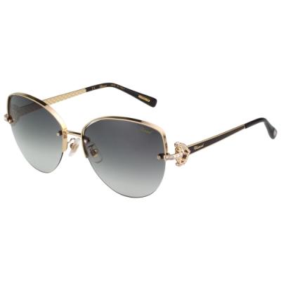 Chopard 水鑽 太陽眼鏡(金色)SCHC18S