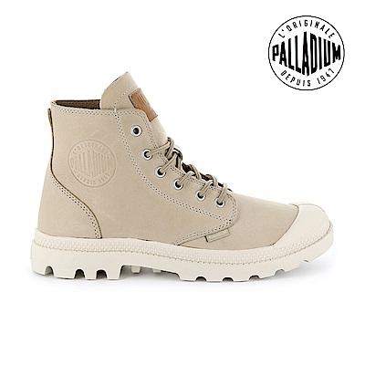 Palladium Pampa HI LTH UL經典皮革靴-女-米白