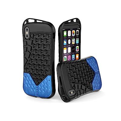 PKG Apple IPhone X 抗震防護手機殼套-運動系列-藍