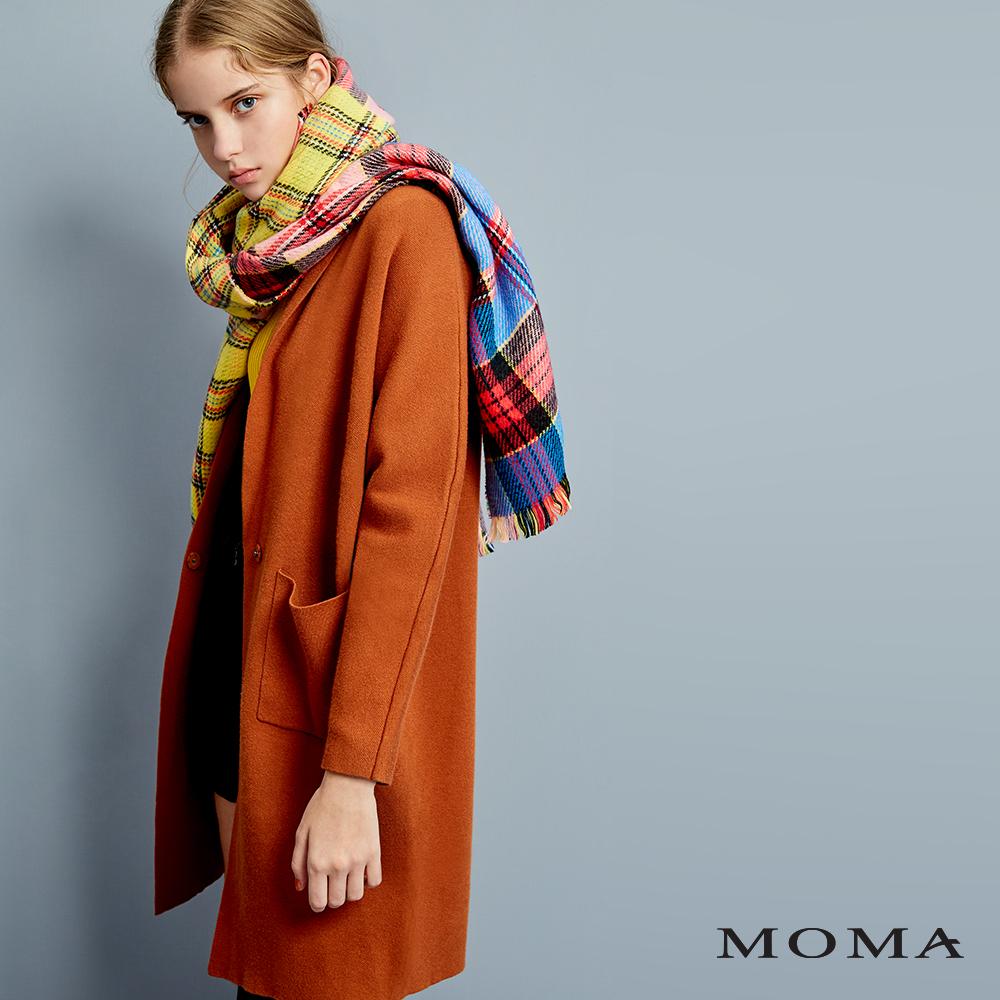 (網路獨賣)MOMA絲瓜領針織外套