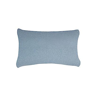 YVONNE COLLECTION 純棉素面枕套- 灰藍 (可搭配彩虹床組)