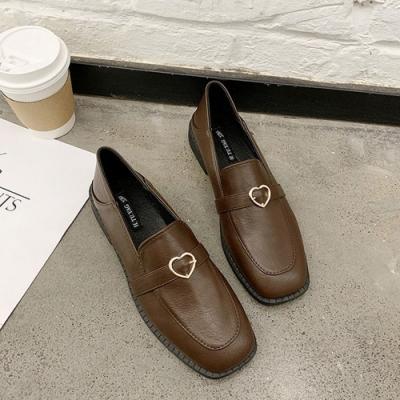 KEITH-WILL時尚鞋館 簡約時尚隨性自在愛心樂福鞋-棕