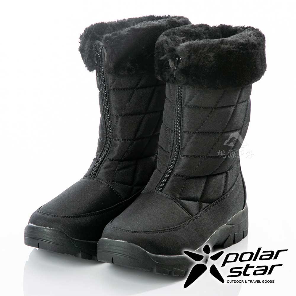 PolarStar 女保暖雪鞋『黑』P18630 冰爪 / 內厚鋪毛 /防滑鞋底