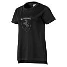 PUMA-女性法拉利經典系列大盾短袖T恤-黑色-歐規