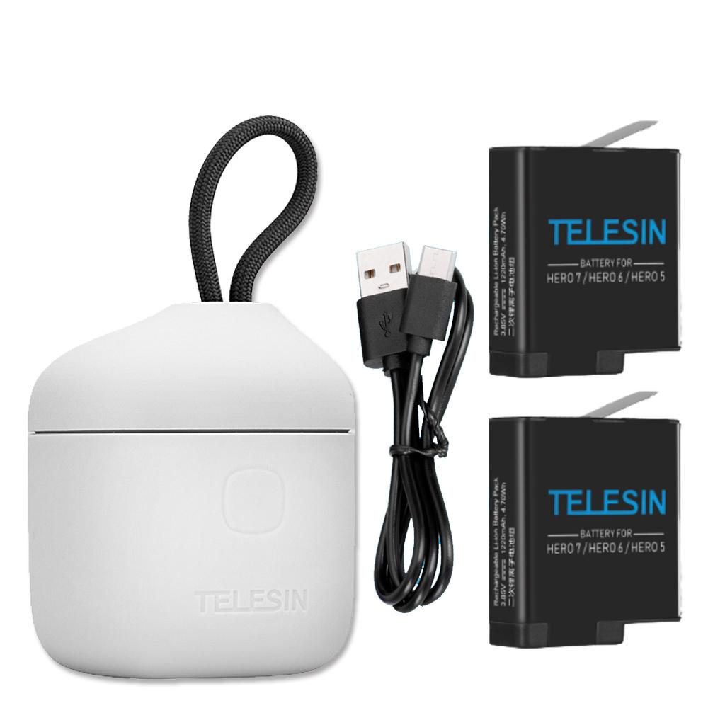 TELESIN 收納式iP54防水三充電池盒 (含電池X2) GoPro 專用