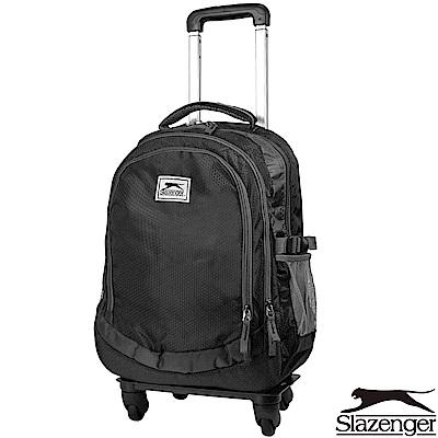 Slazenger 史萊辛格 可拆式拉桿後背包(黑)