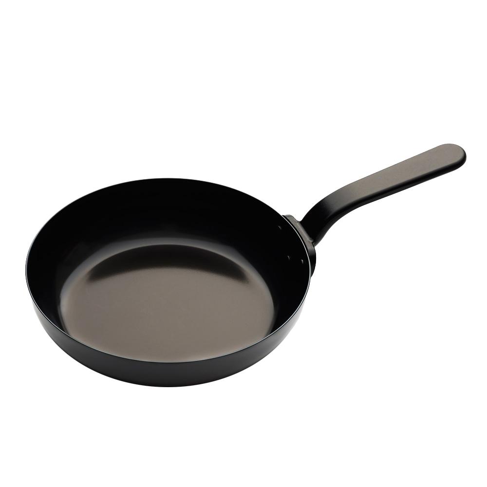 有元葉子 單耳平底鐵鍋-26cm