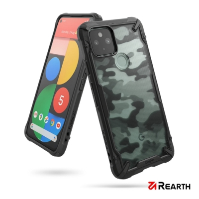 Rearth Google Pixel 5 (Ringke Fusion X) 迷彩抗震保護殼