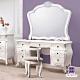 漢妮Hampton約瑟芬法式5尺化妝鏡台桌椅組-146x52x191cm product thumbnail 1
