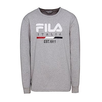 FILA男圓領T恤-淺麻灰 1TES-5404-MY
