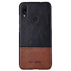 KEZiHOME 復古系列 紅米Note 7 6.3吋 單底背蓋真皮手機殼