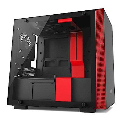 NZXT【H200】玻璃透側 ITX電腦機殼《黑紅》