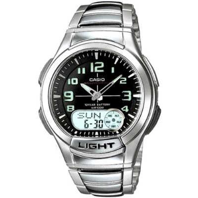 CASIO 時尚雙顯商務休閒錶-AQ-180WD-1B(黑)/41mm