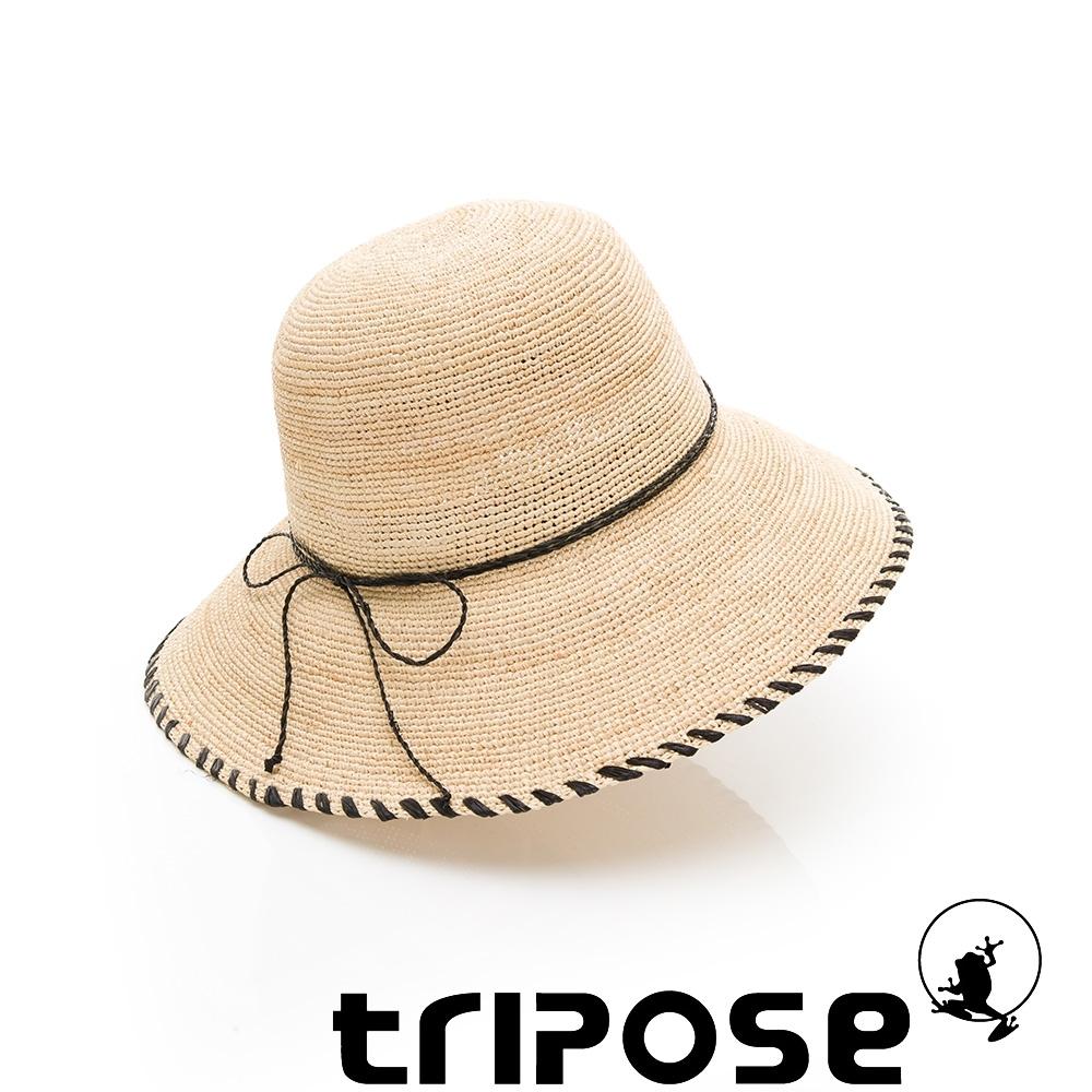 tripose DANA 100%手工Raffia時尚遮陽草帽-帽簷10cm(象牙白)