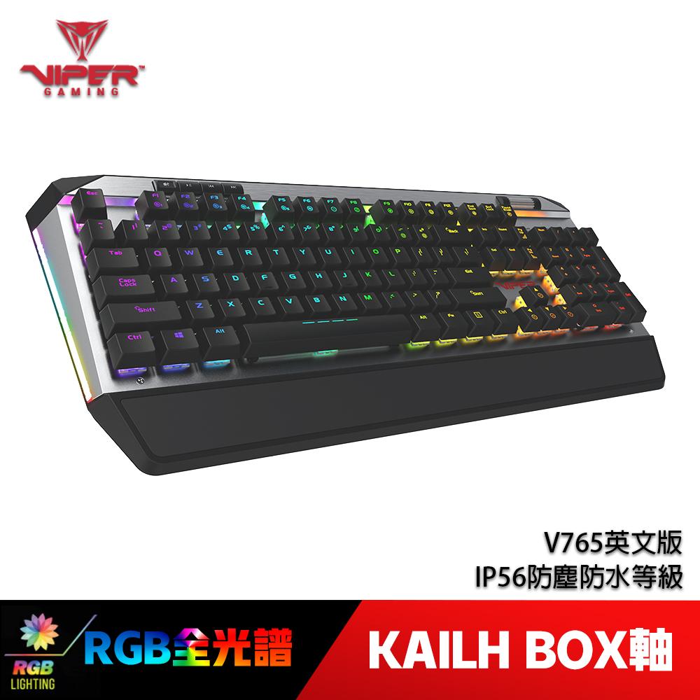 VIPER美商博帝 V765 RGB 機械式電競鍵盤(英文)