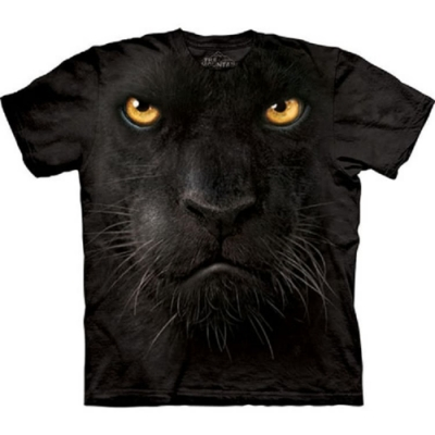 摩達客-預購-美國進口The Mountain 黑豹臉 兒童版純棉環保短袖T恤