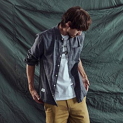CACO-格紋口袋襯衫-情侶款-男【QNA008】