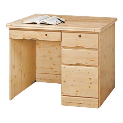 AS-蓋爾松木實木3.3尺書桌-100x57.5x75cm