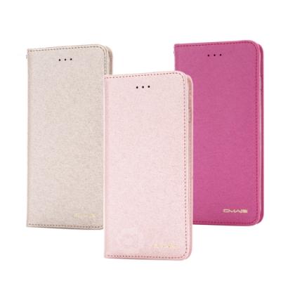 Apple iPhone 12 mini (5.4吋) 星空粉彩系列皮套 頂級奢華質感 隱形磁力支架式皮套-金粉桃