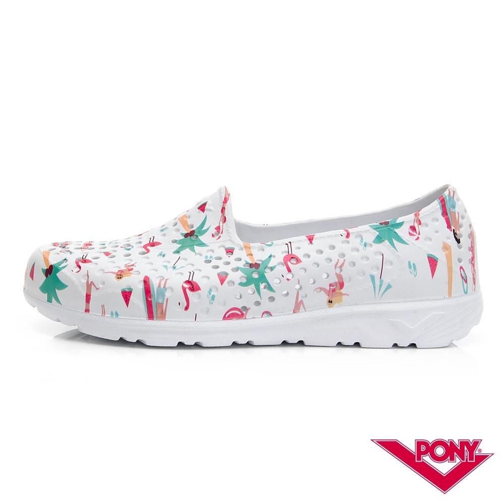 【PONY】TROPIC輕量透氣洞洞鞋 涼鞋 女鞋 夏日度假風印花/彩