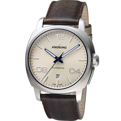 Anonimo EPURATO 義式經典機械錶-42mm/米色