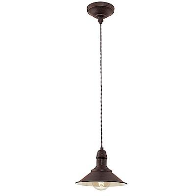 EGLO歐風燈飾 復古風美型黑色吊燈(不含燈泡)