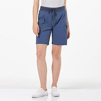 【HAKERS 哈克士】女 快乾彈性短褲-復古藍