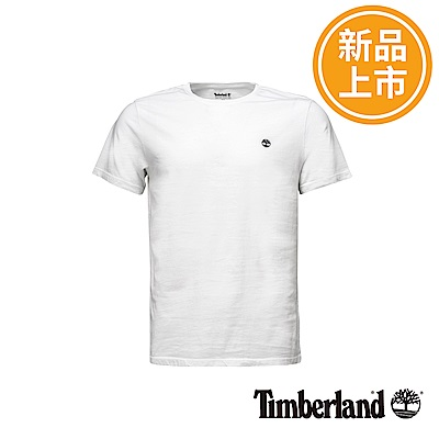 Timberland 男款白色圓標LOGO短袖T恤