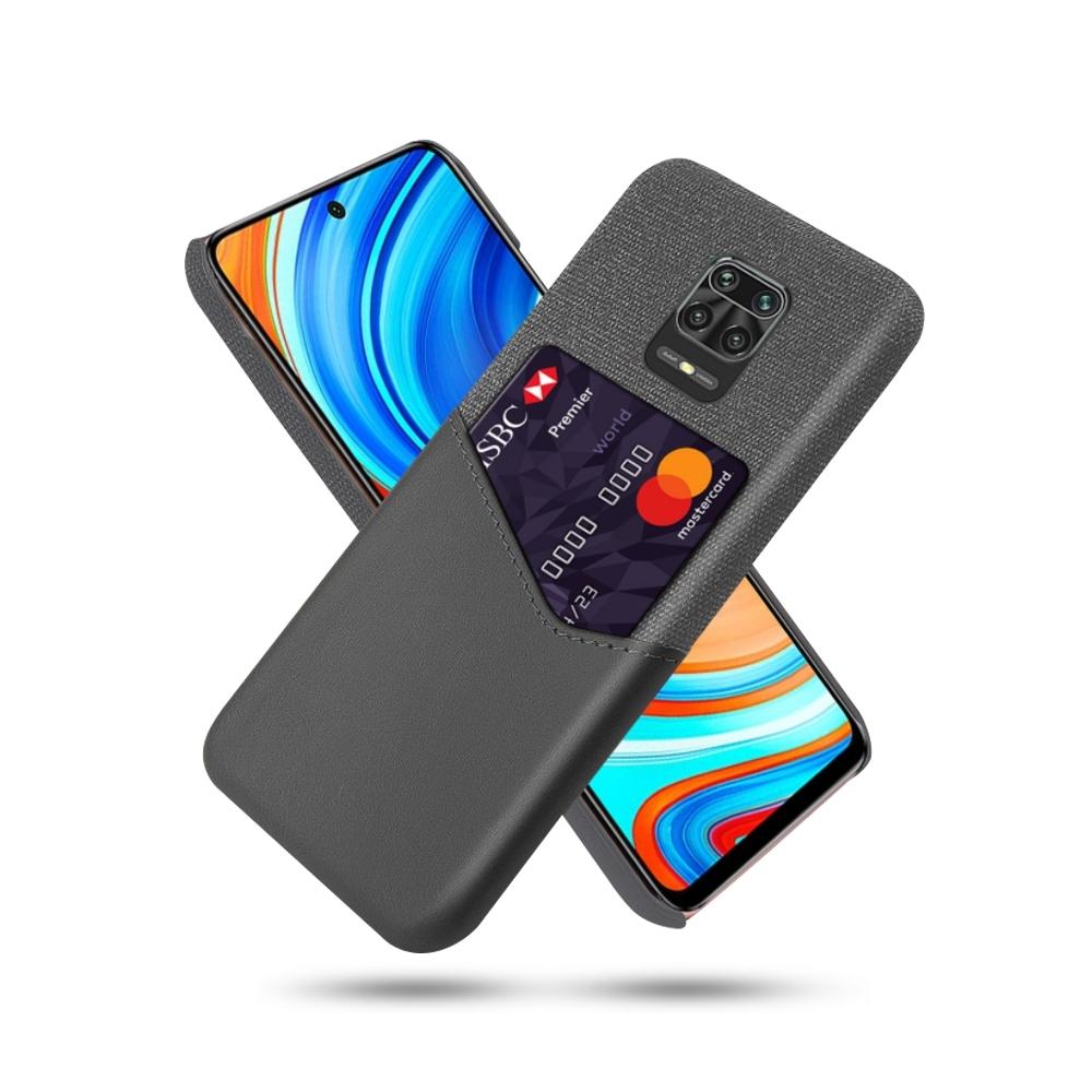 拼布皮革 MI 紅米Note 9 Pro 插卡手機殼(5色)