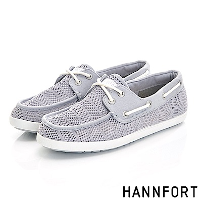 HANNFORT CALIFORNIA抽繩帆船鞋-女-大象灰