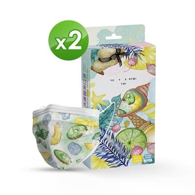 沃康 醫用口罩(未滅菌)(雙鋼印)-成人平面 微醺水果(10入/盒x2)