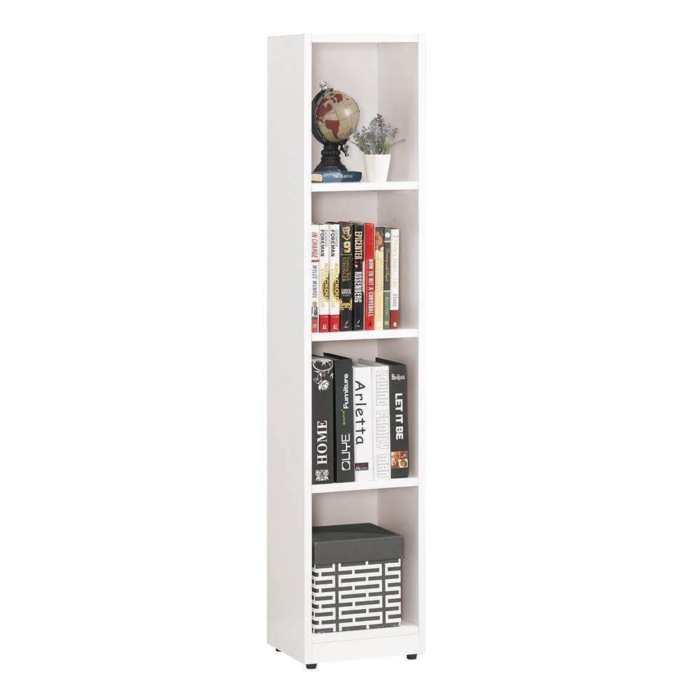 Boden-貝爾1尺四格開放式收納置物櫃/書櫃-28x24x139cm