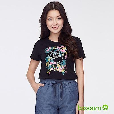 bossini女裝-印花短袖T恤37黑