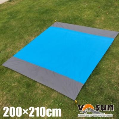 VOSUN 210T 輕量抗撕裂防水防潮野餐墊/地布地墊_200×210cm.海灘墊.地席