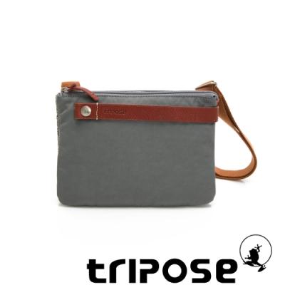 tripose 漫遊系列岩紋輕巧可拆式雙層斜揹小包 灰