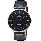 STAR時代羅馬極簡時尚腕錶(7T1902-441RG-DD)-黑面