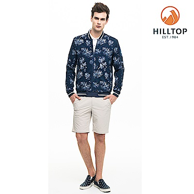 【hilltop山頂鳥】男款超潑水彈性抗UV雙面穿外套S02M94憂鬱藍